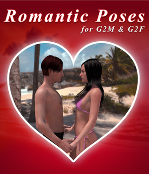 Romantic Poses for Genesis 2 3D Figure Assets LeoLee
