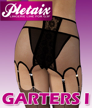 Pletaix Garters I for G3 females 3D Figure Assets powerage