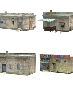Shanty Town Buildings 2: Set 6 (for Poser) 3D Models VanishingPoint