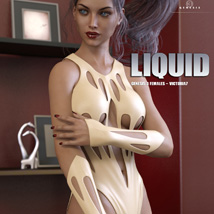 Liquid Outfit for Genesis 3 Females image 3
