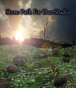 Stone Path For Daz Studio 3D Models fictionalbookshelf