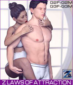 Z Laws Of Attraction - Genesis 2 Female & Male - Genesis 3 Female & Male 3D Figure Essentials Zeddicuss
