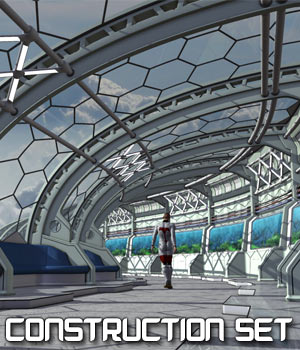 Futuristic Promenade  - Extended License 3D Models Gaming Extended Licenses coflek-gnorg