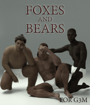 Foxes and Bears 3D Figure Assets AliveSheCried