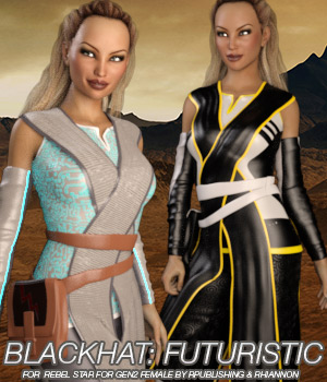 BLACKHAT:FUTURISTIC - Rebel Star for Gen2 Female 3D Figure Essentials Anagord