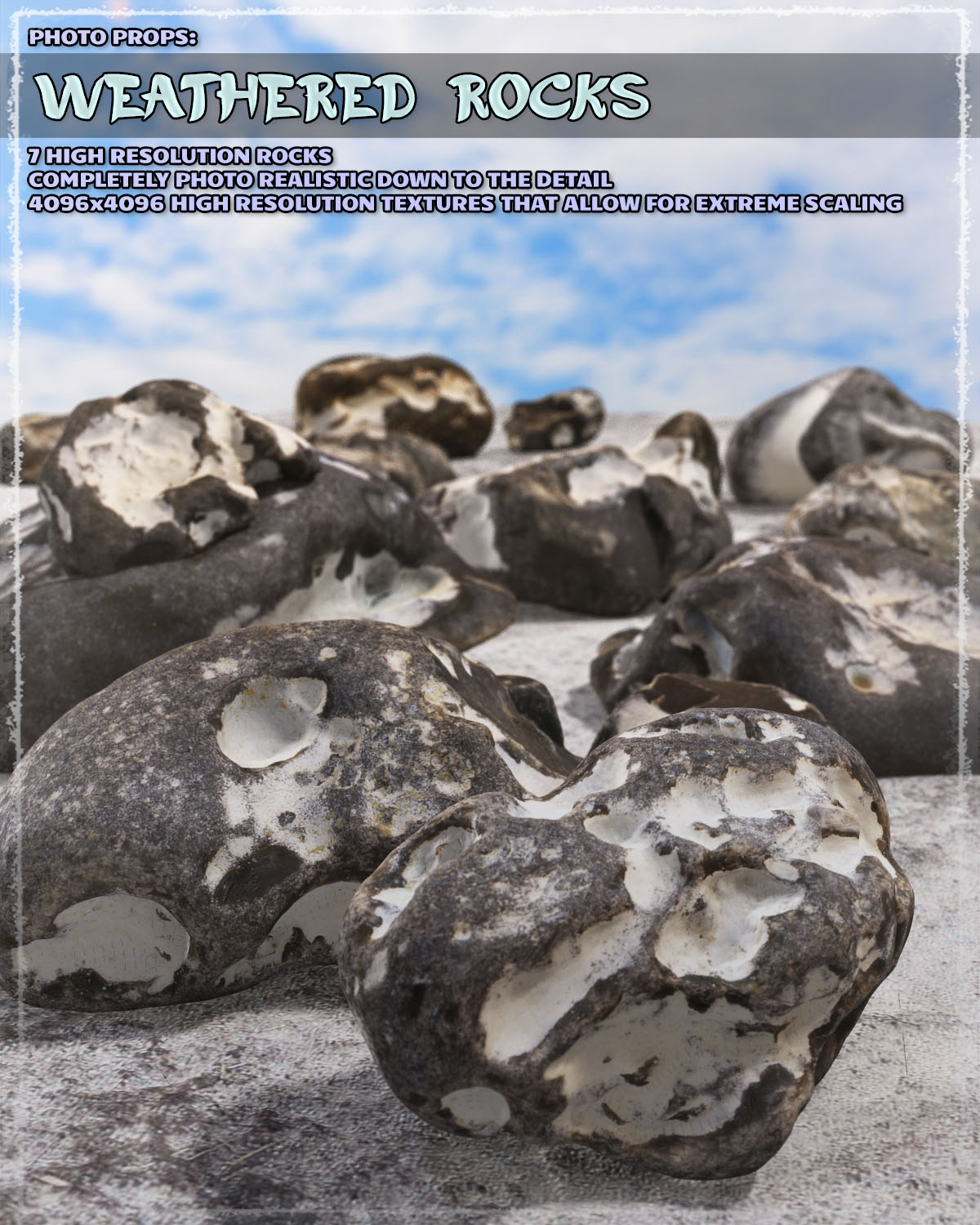 Photo Props: Weathered Rocks - Extended License