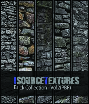 Brick Collection - Vol2 (PBR Textures) 2D KobaAlexander