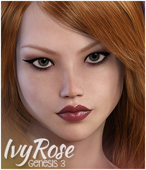 IvyRose for Genesis 3 Female 3D Figure Assets Sabby