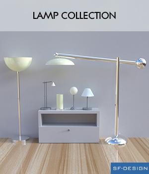 Lamp Collection 3D Models SF-Design