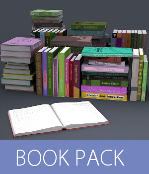 Book Pack 3D Models TruForm