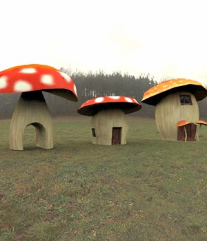 Cartoon World: Toadstool Buildings (for Poser) 3D Models VanishingPoint