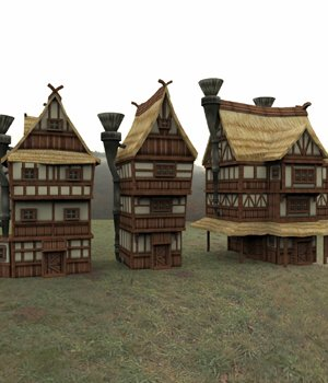 Cartoon World: Houses 2 (for Poser) 3D Models VanishingPoint
