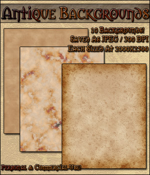 Antique Backgrounds  2D Graphics MarieMcKennaDesigns