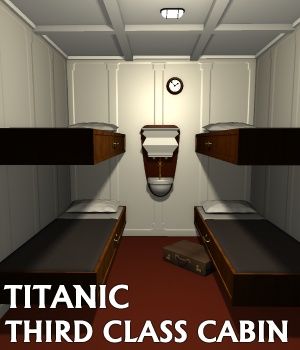 Titanic third class cabin - Extended License 3D Models Gaming Extended Licenses greenpots