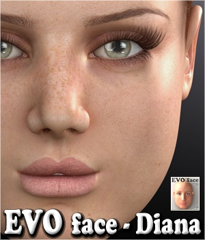 EVO face - Diana 3D Figure Assets 3Dream