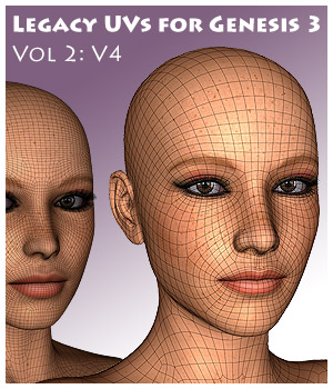 Legacy UVs for Genesis 3: V4 Software CaymanStudios