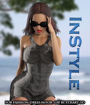 InStyle - Fashion Dress 04 for G3F 3D Figure Essentials -Valkyrie-