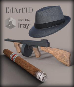 Bonnie And Clyde Morphing Props for G3F/G3M 3D Figure Essentials 3D Models EdArt3D
