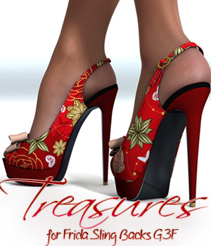 Treasures for Frida Sling Backs G3F 3D Figure Essentials alexaana