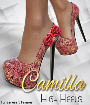 Camilla High Heels for Genesis 3 Female(s) by 3DSublimeProductions