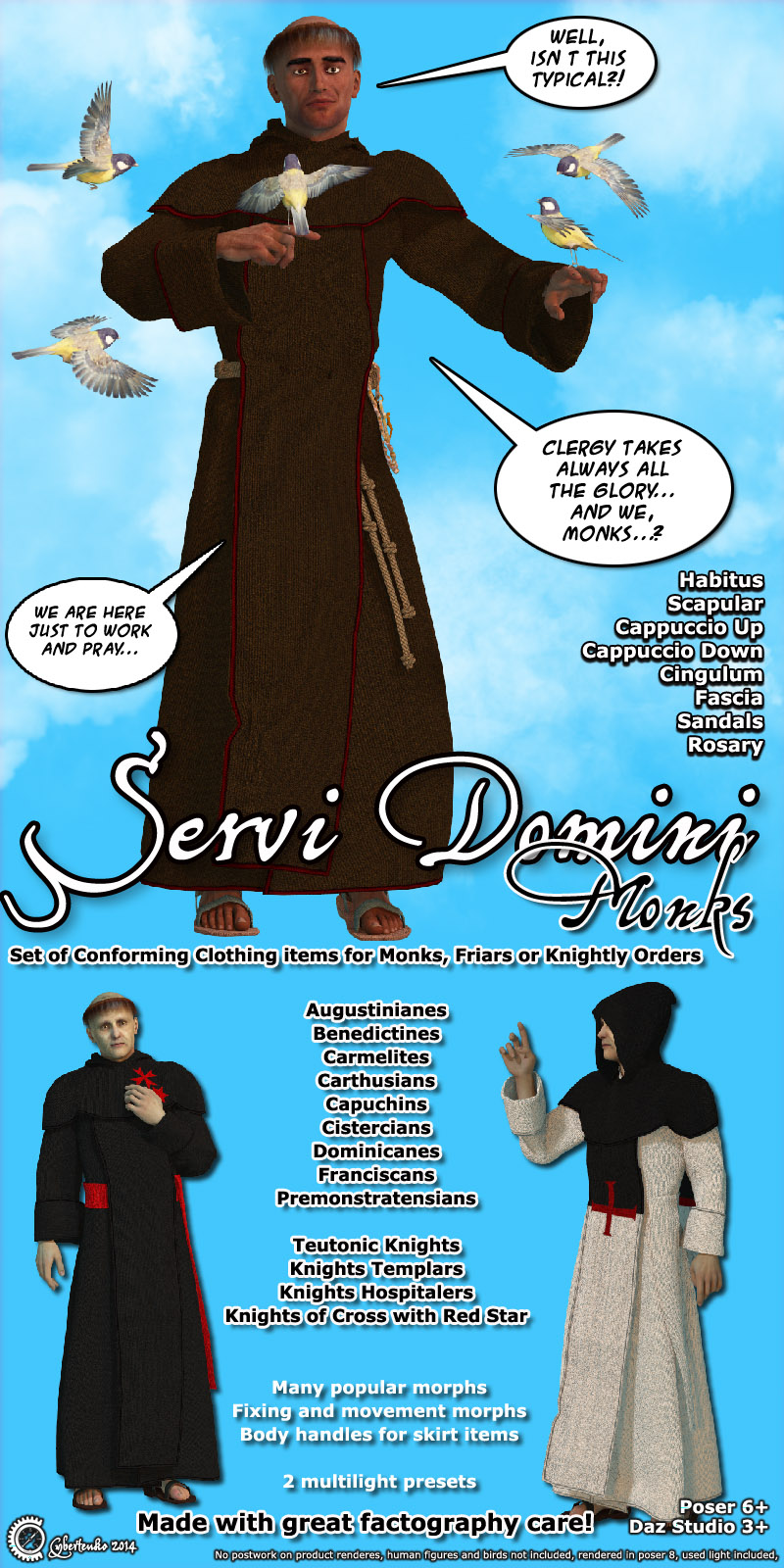Servi Domini - Monks - Extended License