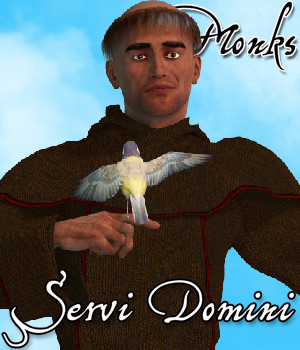 Servi Domini - Monks - Extended License 3D Figure Assets Extended Licenses Cybertenko