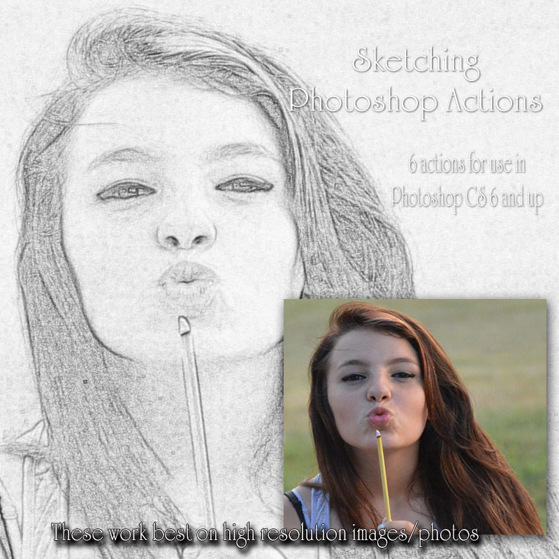 Sketching Photoshop Actions
