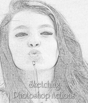 Sketching Photoshop Actions 2D antje