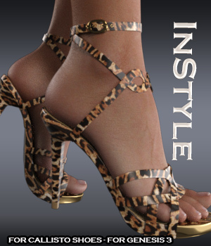 InStyle - Callisto Shoes - for Genesis 3 3D Figure Essentials -Valkyrie-