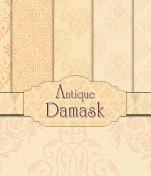 Antique Damask 2D Graphics Merchant Resources antje