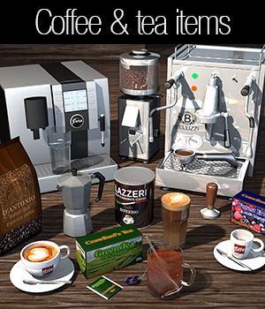 Everyday items, Coffee and Tea 3D Models 2nd_World
