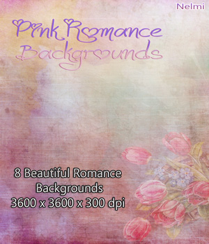 8 Pink Romance Backgrounds  2D Graphics nelmi