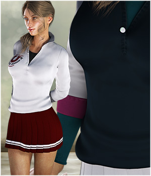 Polo Girl Textures 3D Figure Assets ShoxDesign