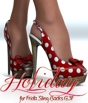Holiday for Frida Sling Backs G3F 3D Figure Essentials alexaana