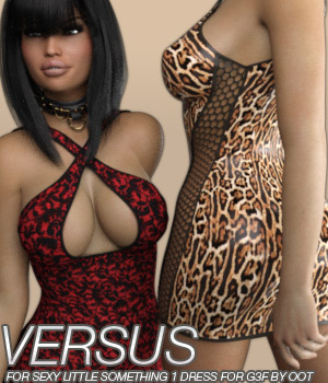 VERSUS - Sexy Little Something 1 Dress for Genesis 3 Female(s) 3D Figure Assets Anagord
