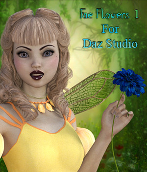Fae Flowers 1 For Daz Studio 3D Models fictionalbookshelf