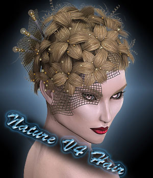 Nature V4 Hair 3D Figure Assets Sshodan