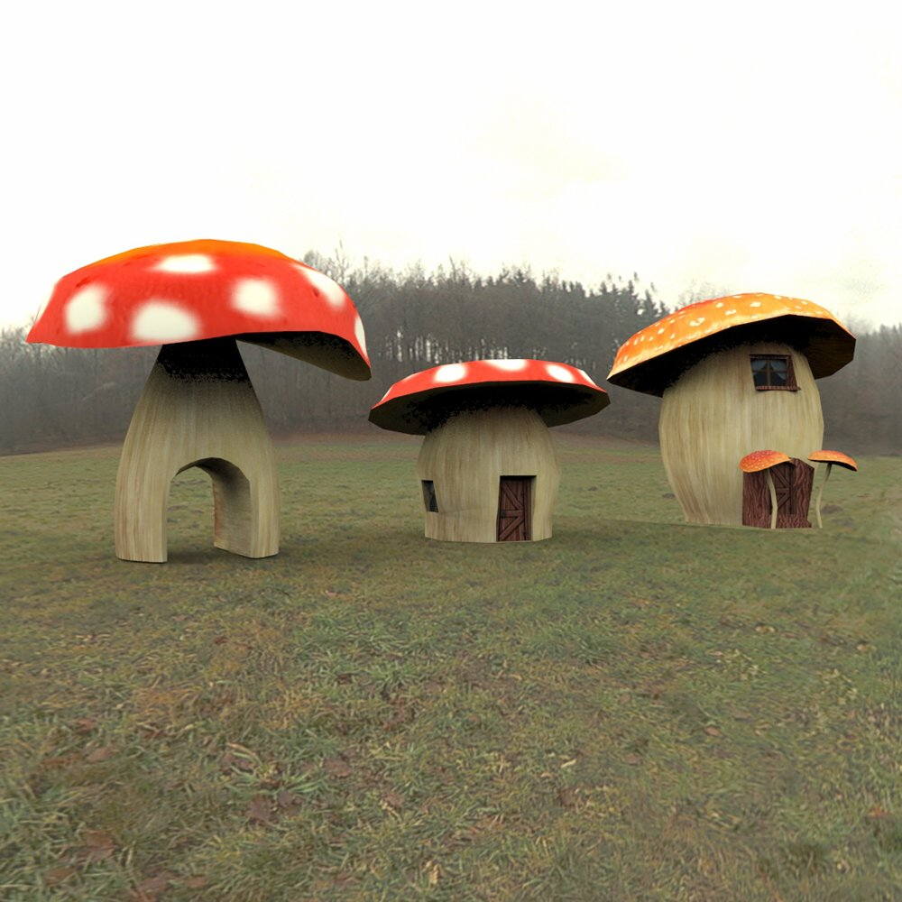 Cartoon World: Toadstool Buildings (for Poser) - Extended License