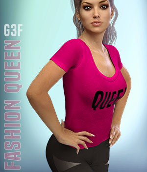 Fashion Queen for G3F 3D Figure Assets xtrart-3d