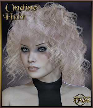 Prae-Ondine Hair For V4/M4 3D Figure Assets prae