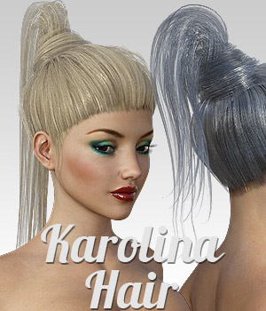 Karolina Hair for G3 female(s) 3D Figure Assets powerage