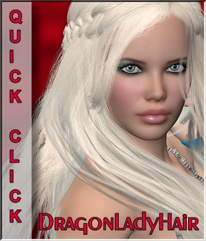 Quick-Click DragonLady Hair 3D Figure Essentials LUNA3D