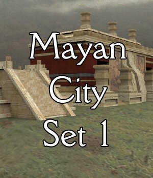 Mayan City: Set 1 (for Poser) 3D Models VanishingPoint