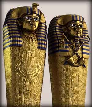 Egyptian Queen & Pharaoh Coffins 3D Models EdArt3D