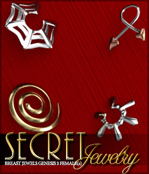 Secret Jewelry for Genesis 3 Female(s) 3D Figure Assets Sveva