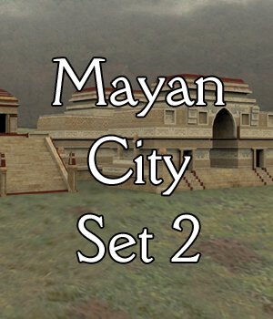 Mayan City: Set 2 (for Poser) by VanishingPoint