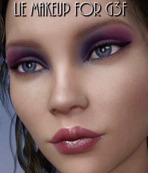 Lully's LIE Makeups for Genesis 3 Female 3D Figure Assets Lully
