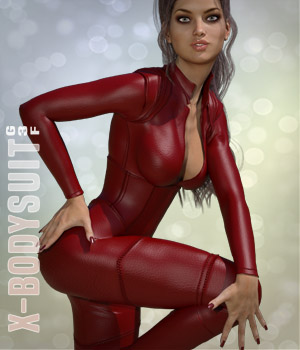 X-Bodysuit for G3F 3D Figure Assets xtrart-3d