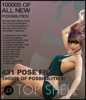 i13 Top Shelf Poses for the Genesis 3 Female(s) 3D Figure Essentials ironman13