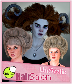 Biscuits Hair Salon Unseelie 3D Figure Assets 3D Models Biscuits